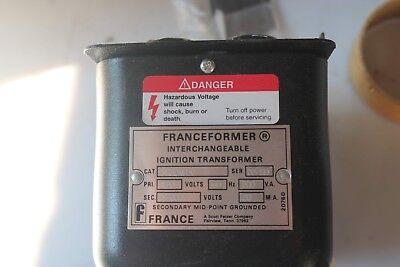 France Transformer 2cvs-2 Mtg Plate Primary 120v 60hz Secondary 12000v 20ma