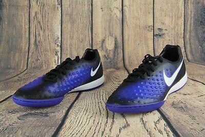 sale retailer ad402 31afe Nike Magista X Onda II IC Indoor Soccer Shoes Black Blue 844413-015 Size 8  NEW