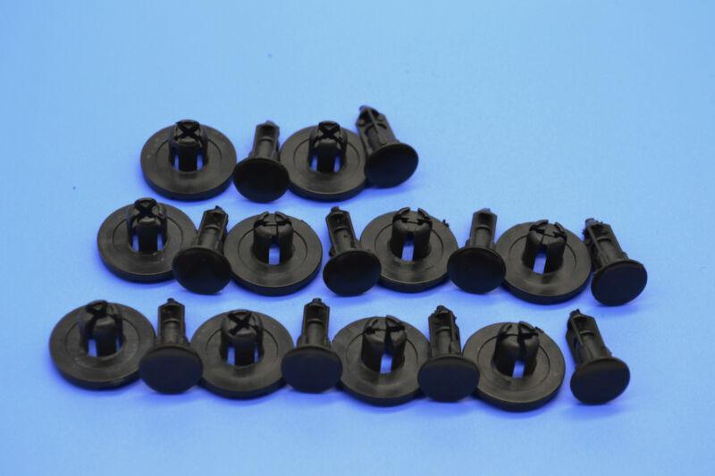 10 X RANGE ROVER SPORT BLACK PLASTIC TRIM RETAINING/FASTENERS CLIPS