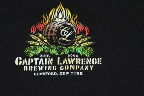 Captain Lawrence Brewing Company Elmsford NY Large black T shirt