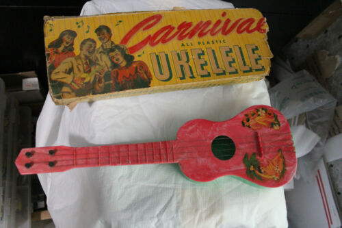 VINTAGE CARNIVAL HAWAIIAN COLLECTABLE UKELELE WITH ORIGINAL BOX 1950