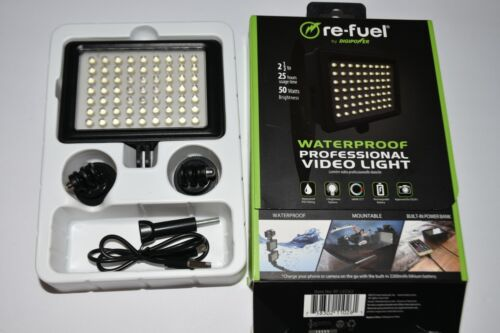 Digipower RF-LED62 Water-resistant Professional Video Light with Built-in Power