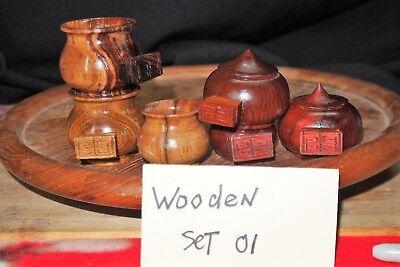 Wooden bamboo Bird Cage cup/bowl/feeder set 1