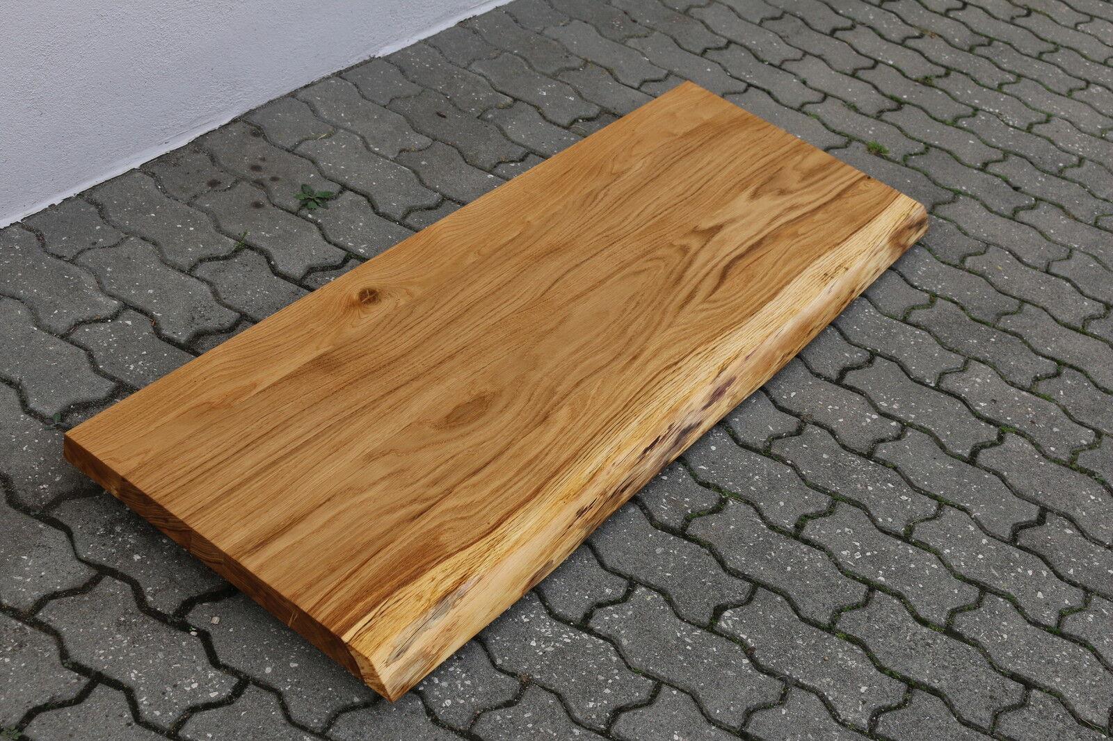 Waschbecken Tischplatte Platte Eiche Wild Massiv Holz mit