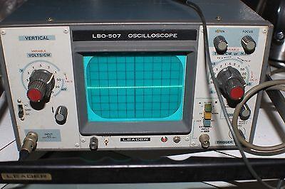Leader Lbo-507 Rare Vintage Oscilloscope -