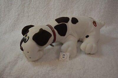 VTG 1985 Tonka Pound Puppy/Puppies with pristine collar.  White/Brown (34)