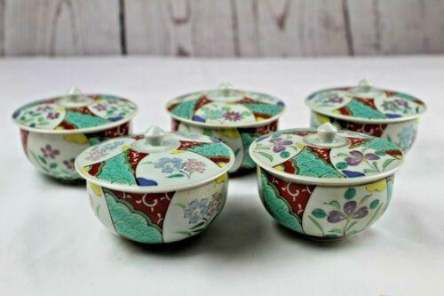 Vintage Japanese Tea Set 20 Piece Hand-Painted Floral Print Colorful Rare Japan