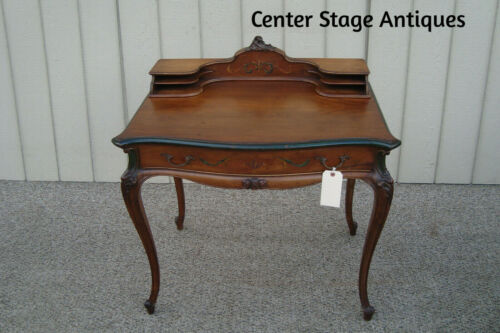 60611 French Country Vanity Desk with Stenciled Drawer