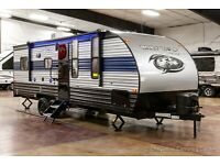 New 2022 Forest River Cherokee Grey Wolf 22RR Travel Trailer Toy Hauler for Sale