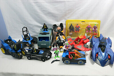 Lot of 30 Fisher Price Imaginext DC Batman-Robin-Penguin-Lex Luther-MORE-ID#0510