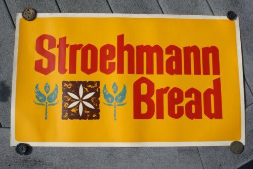 "VINTAGE STROEHMANN BREAD ADVERTISING SIGN  15"" X 26""  Store Display"