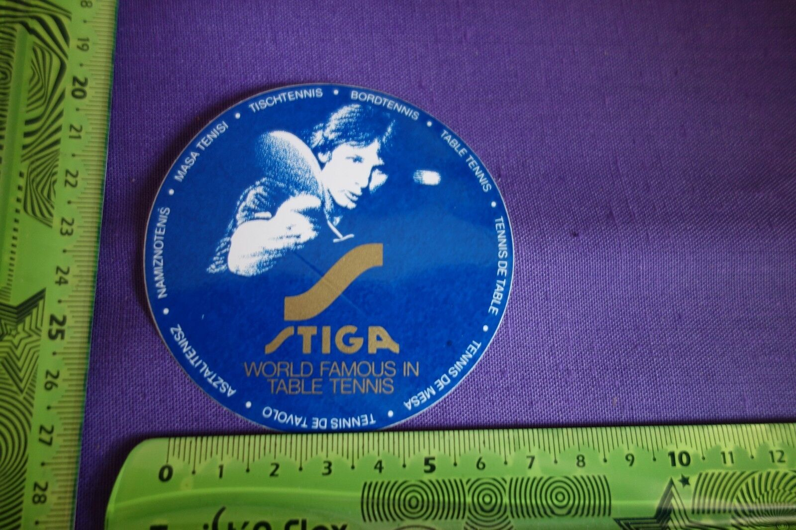 Alter Aufkleber Tischtennis Bordtennis STIGA WORLD FAMOUS IN TABLE TENNIS