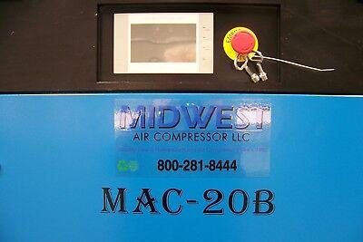 Air-max 20hp Mac-20bt Industrial Rotary Screw Compressor 120 Gallon Tank