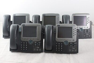 Lot Of 10 Cisco 7970g Ip Phones W Stands Handsets