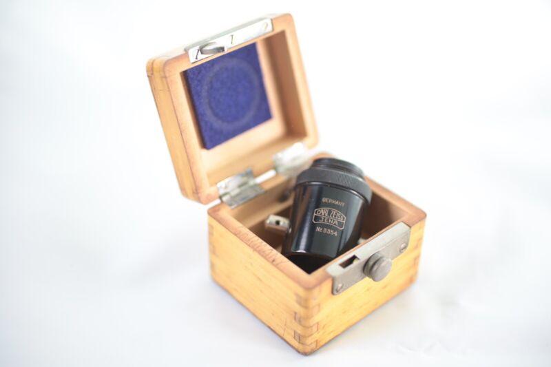 RARE Vintage Early Carl Zeiss Vertical Illuminator Mint In Original Wooden Box!