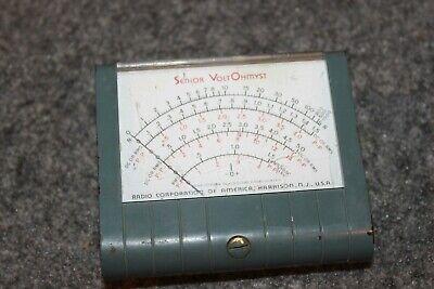 Rca Vacuum Tube Volt Meter Senior Voltohmyst Wv-97-a Analog Meter Display Part