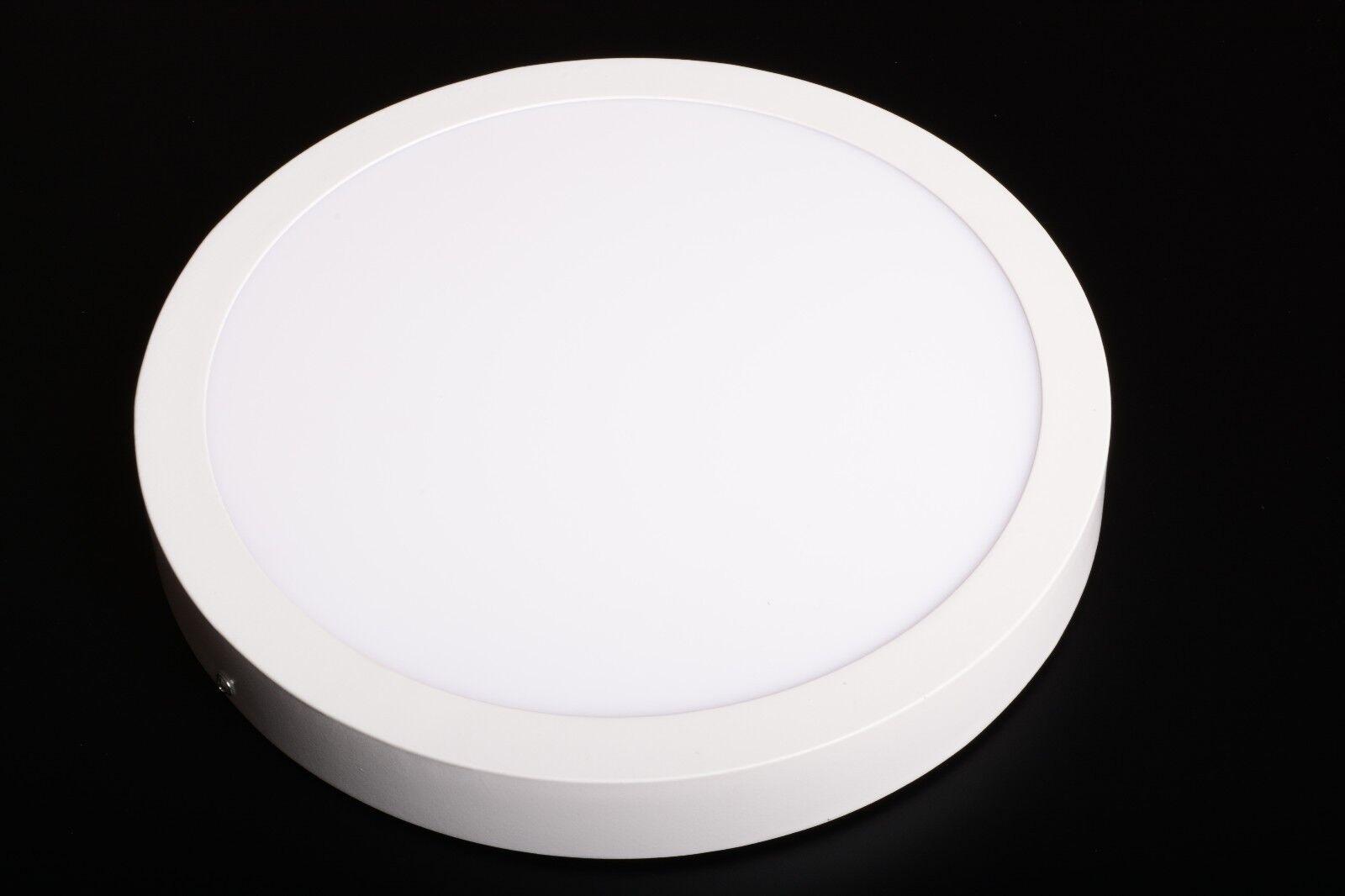 Faretti Led Da Soffitto : Faretto led da soffitto parete plafoniera 24w rotondo 300mm bianco