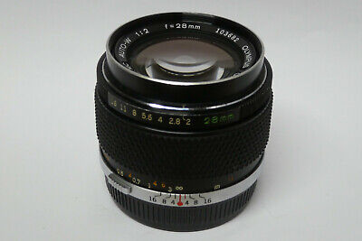 Olympus Zuiko MC Auto-W  2,0 / 28 mm Objektiv für analoge OM Kameras , usado segunda mano  Embacar hacia Spain