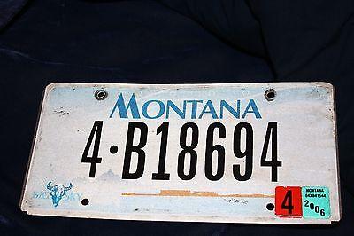 Two 2006 Montana License plate # 4 B18694
