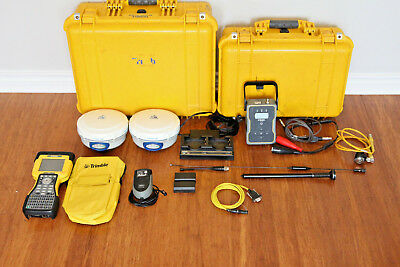 Trimble Dual R6 Model 2 Gps Gnss Glonass Rtk Survey Receiver Setup Tsc2 Tdl-450h