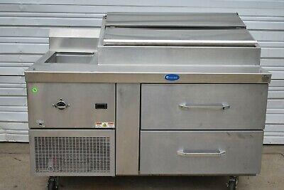 Randell 60 Refrigerated Raised Rail Prep Table With Hot Well