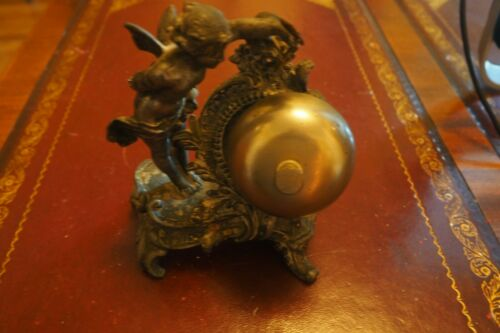 Rare Early Antique Cherub Front Desk Bell