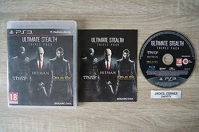 Ultimate Stealth Triple Pack Thief Hitman Deus Ex Human Revolution  PS3 Games comprar usado  Enviando para Brazil