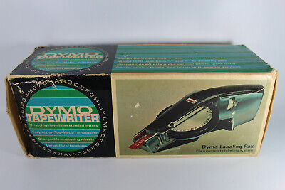 Vintage Dymo Deluxe Tapewriter Label Maker Original Box