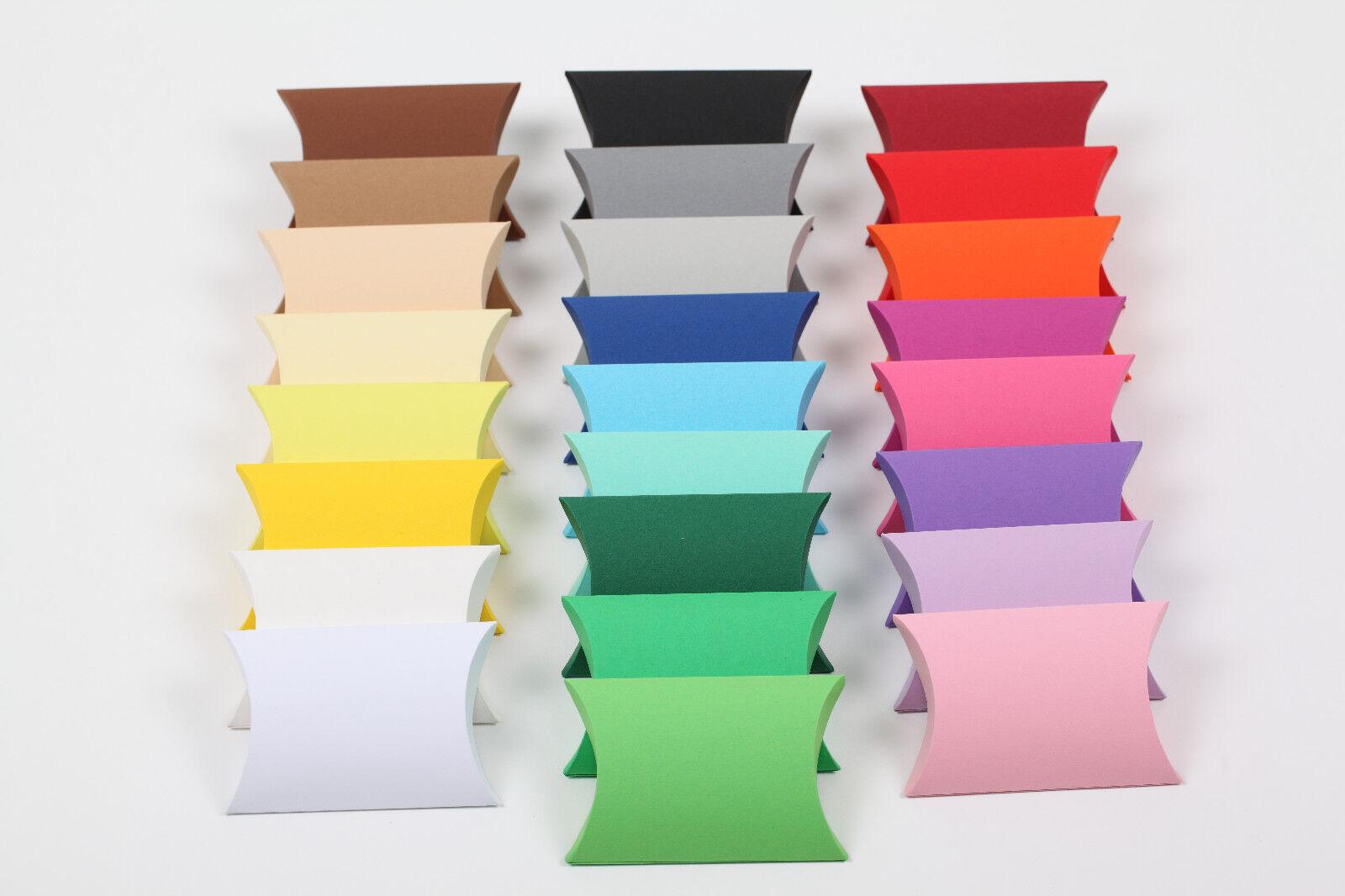 Pillow Box Geschenkschachtel Schachteln Karton Gastgeschenk Hochzeit Taufe Konfi