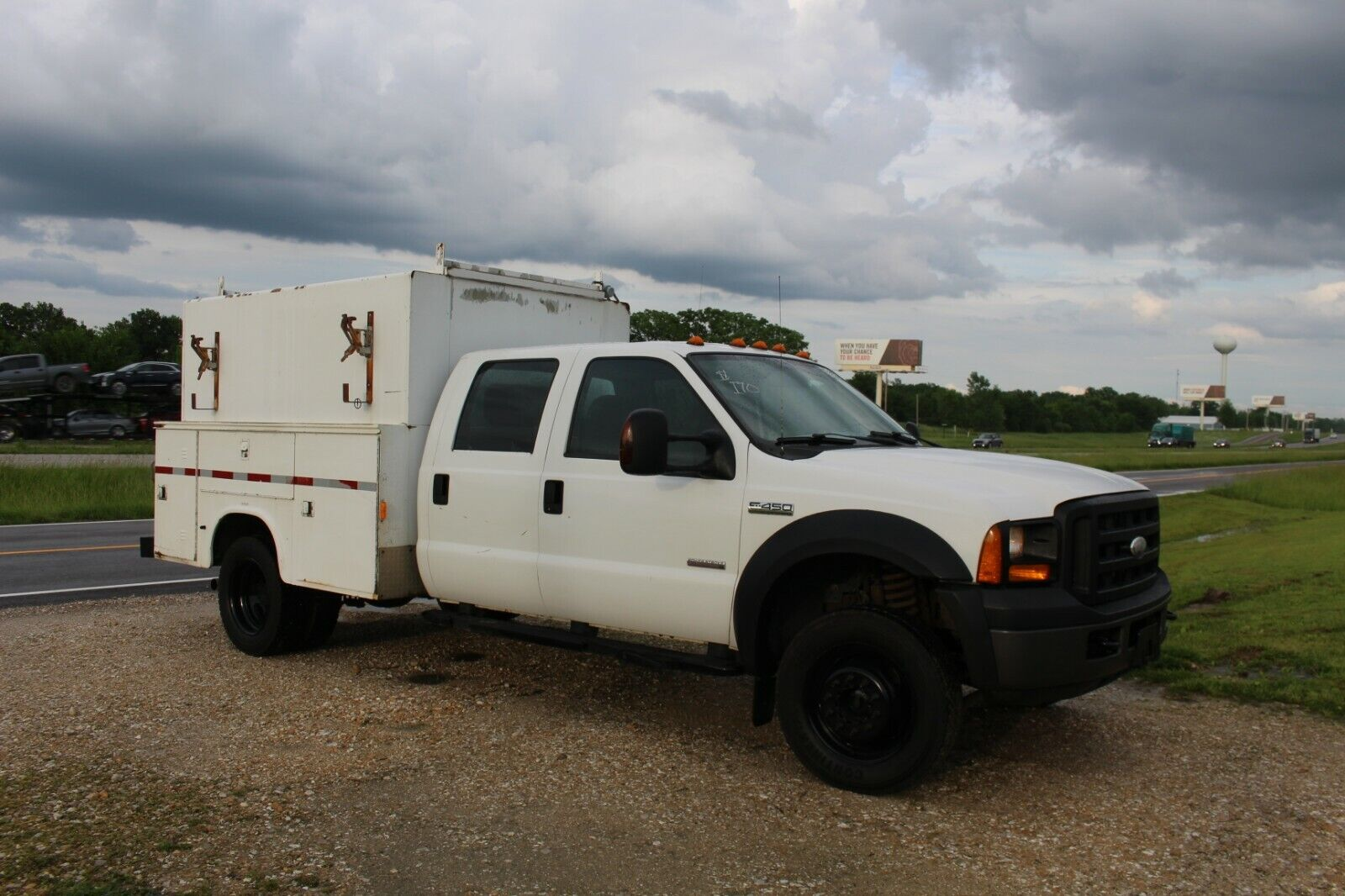 2006 Ford F-450 4x4 Crew Cab Service Utility Truck KUV Powerstroke Diesel Used