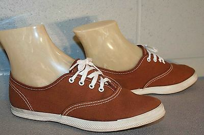 4 Childs NOS Vtg 70s Cinnamon BROWN ROCKABILLY SNEAKER Tennis Canvas Gym Shoe