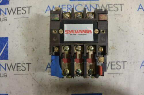 Sylvania Clark Contactor T13U030 Size 0 600V  120V coil TB159-1  Used- *CHIP