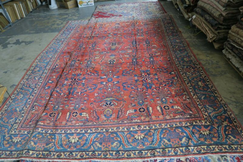 Antique Persian Allover Mahal Lilihan Area Rug 8