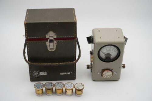Bird Model 43 Thruline Wattmeter with 8 Elements and Leather Case