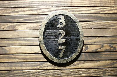 Custom Carved Sign Oval Address Plaque Brass Finished Wood Hand Painted