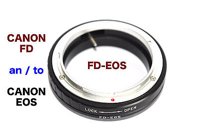 FD - EOS  Canon FD Objektiv Lens  Adapter  an --To  Canon EOS Kamera EF Mount  Canon Fd Eos