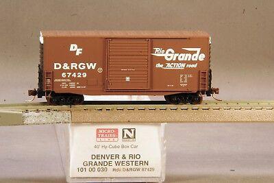 DRGW 67429 MT 101 00 030 Micro-Trains 40/' Hy-Cube Box Car Rio Grande