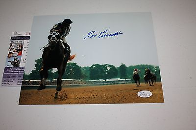 SECRETARIAT JOCKEY RON TURCOTTE SIGNED/AUTO 8X10 PHOTO BELMONT LOOK BACK JSA
