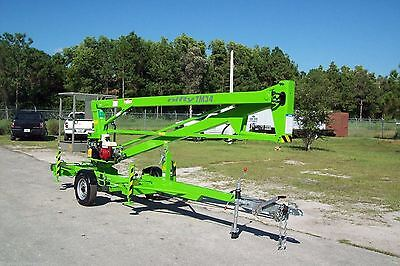 Nifty Tm34m 40 Ft Towable Boom Liftgoes Thru 4 Gate Honda Powered 4 In Stock