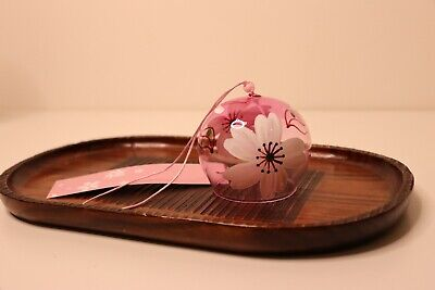 Windchime Bell Japanese With Sakura Blossom, Pink, Wind Chime Good Luck Charm