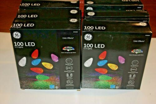 GE Color Effects 100 LED C5 Christmas Lights * 6 Colors * 40 Functions * Remote