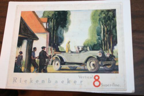 1925 OR 1926 RICKENBACKER VERTICAL 8 Super-Fine AUTOMOBILE TOURING CAR BROCHURE
