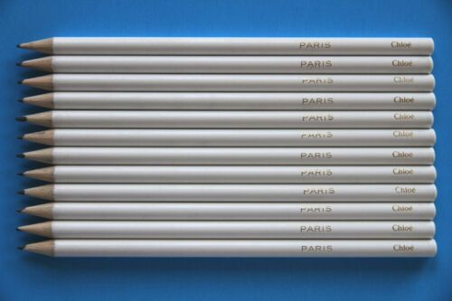 24PCS Chloe White Sharpened Round Wood Stationary Pencils HB#2 Nontoxic No Lead