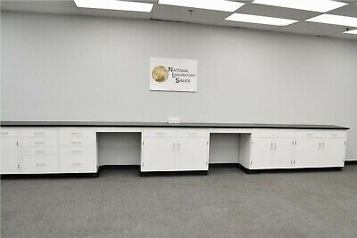 24 Base Laboratory Cabinets W Countertops  Science Furniture Benches E2-100