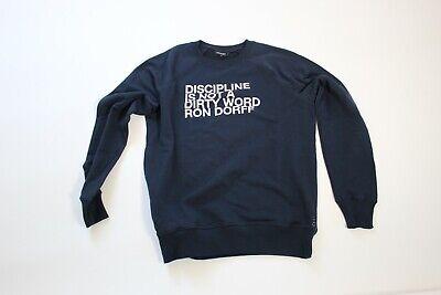 Ron Dorff Men's L Pullover sweatshirt Navy with Graphic