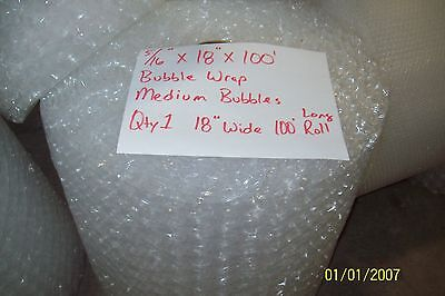 516 Wp Medium Bubble Cushioning Wrap Padding Roll 100 X 18 Wide 100ft Perf 12