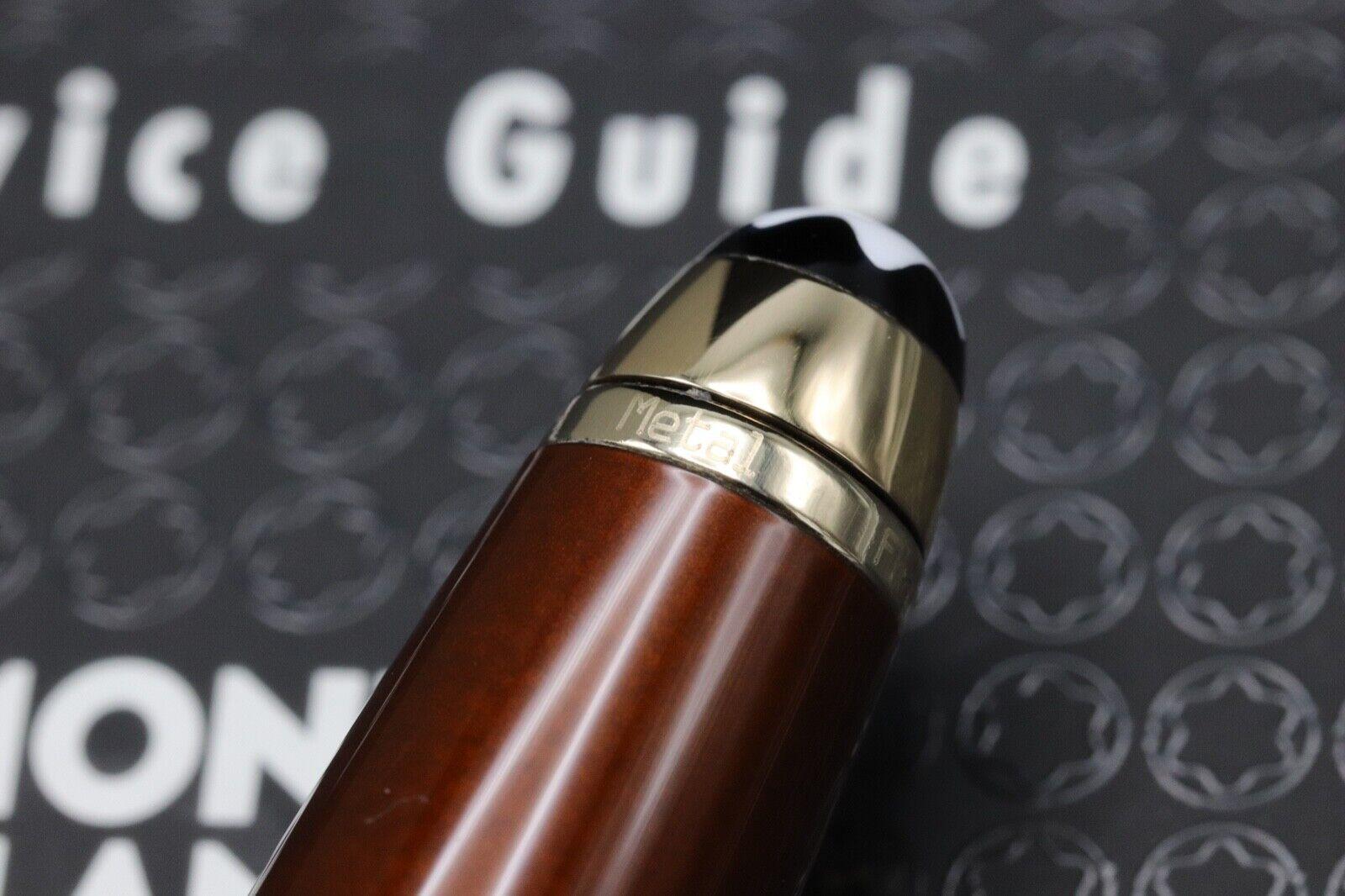 Montblanc Meisterstuck 164 Classique Solitaire Citrine Ballpoint Pen 5