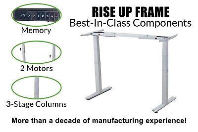Electric Standing Desk Frame Dual Motor Memory Legs Base Ergonomic Adjustable