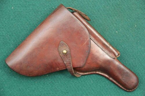 VINTAGE WWII WW2 BULGARIAN P 08 LUGER PISTOL LEATHER HOLSTER FREE SHIPPING