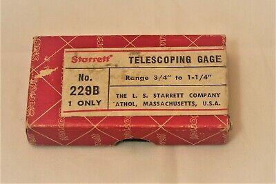Starrett No. 229b Telescoping Gage 34 To 1 14 Preowned